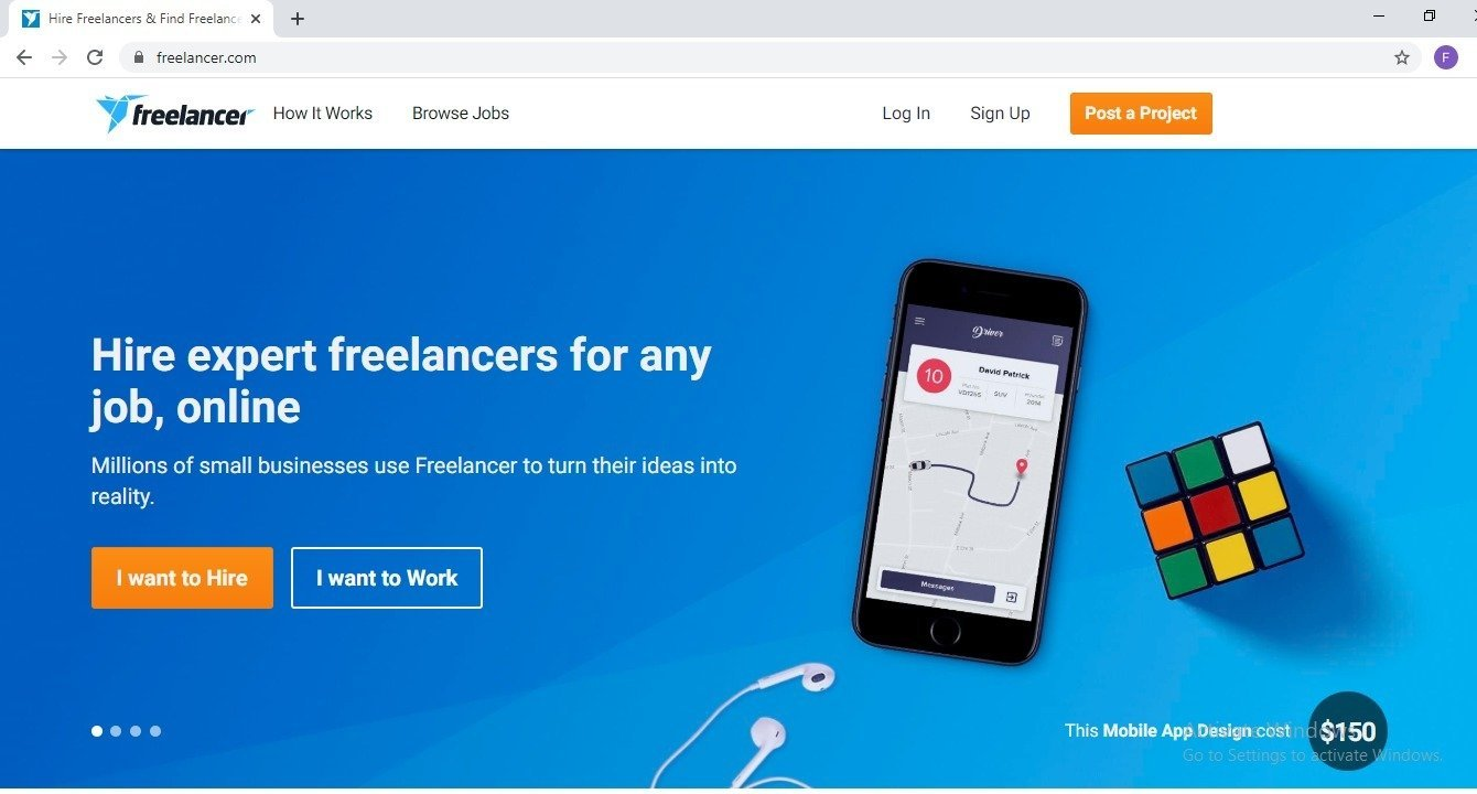 Freelancer the freelancing site for web designers and more