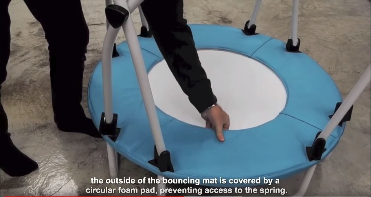Quality/safety mat of the Health Bounce BPOD™ mini trampoline