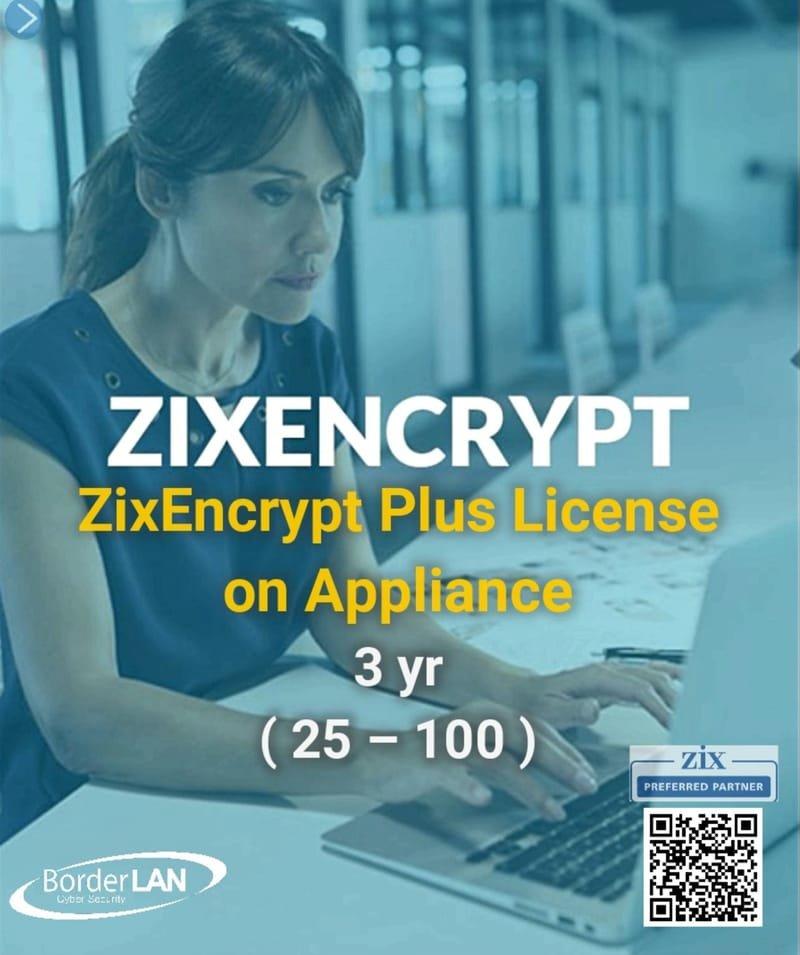 ZixEncrypt Plus License on Appliance  (25 – 100)