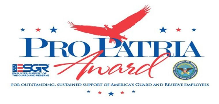 2018 Employer Support of the Guard and Reserve (ESGR) Pro Patria Award