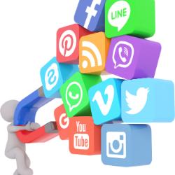 ربط مواقع التواصل الإجتماعي بالكول سنتر