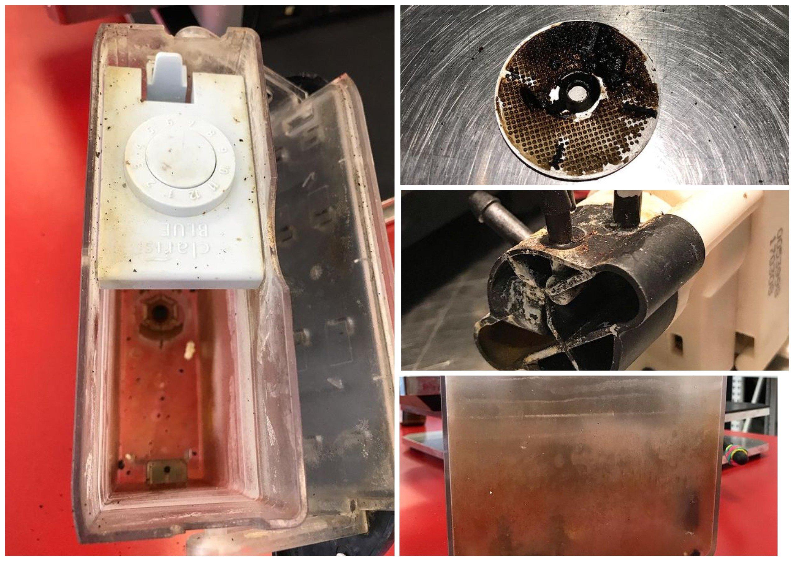 Если не чистить кофемашину и не менять фильтры