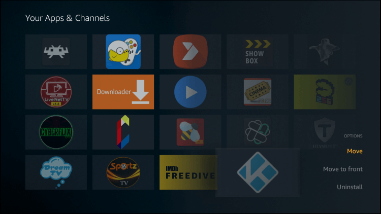Click options button on remote