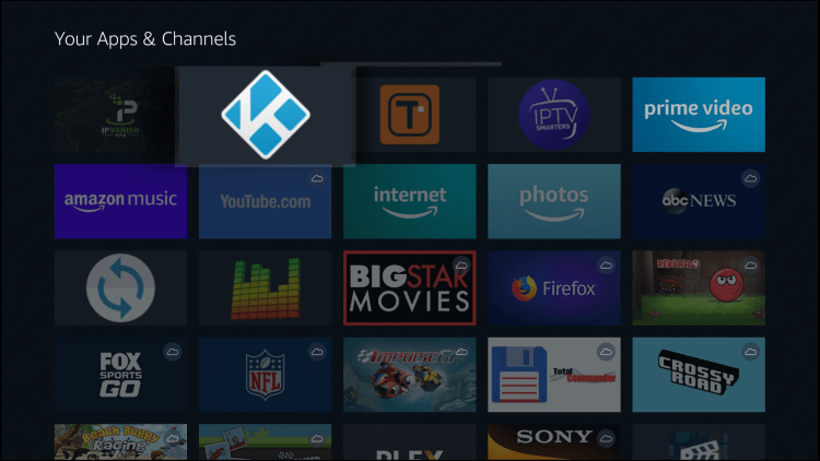 Move Kodi on Firestick to front of list