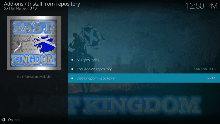Click Last Kingdom Repository