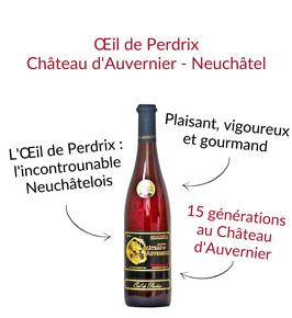 Oeil de Perdrix de Neuchatel chateau d'auvernier rosé de pinot noir
