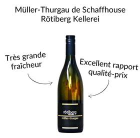 Müller Thurgau ou Riesling Sylvaner de Schaffhouse cave Rötiberg vin blanc