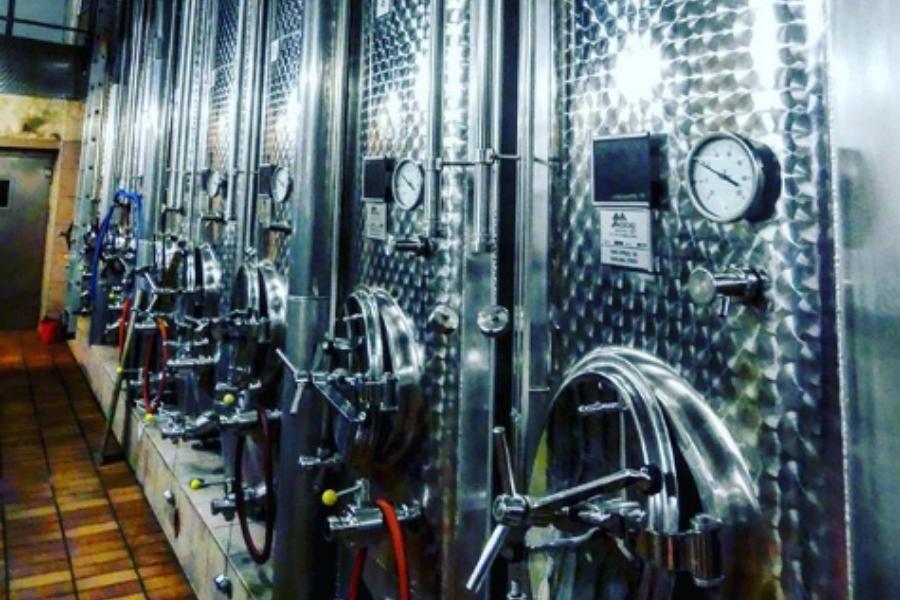 Des cuves en inox pour la fabrication de vin blanc