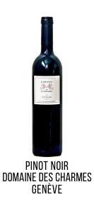 Pinot Noir bio domaine des charmes geneve peissy