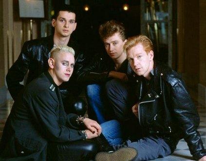 Depeche Mode en promo pour l'album Black Celebration en 1986.