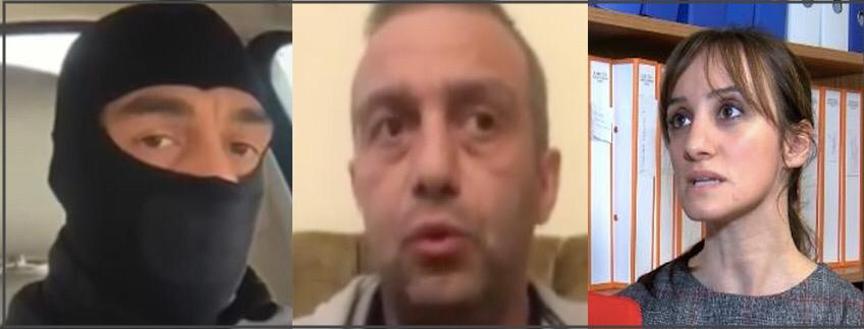 Solda ve Ortada Husumetli Müşteki Özkan Mamati; Sağda Avukatı Eser Çömlekçioğlu