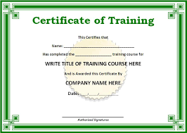 In House Certificate