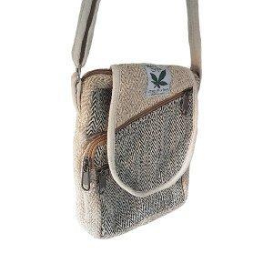 Hemp half moon handbag