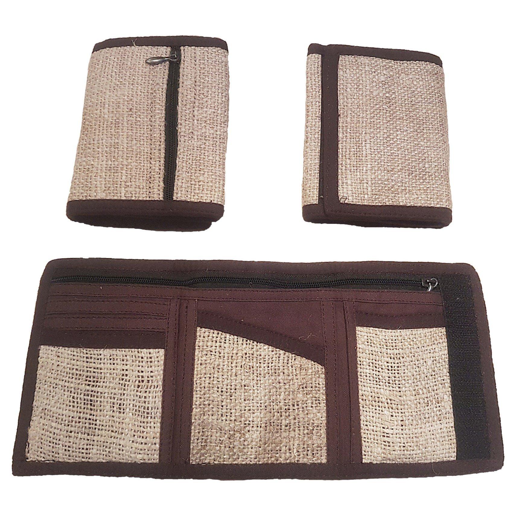 Natural hemp wallet