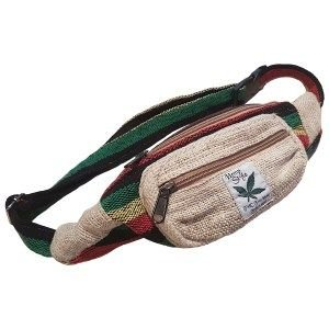 Rainbow style hemp money belt