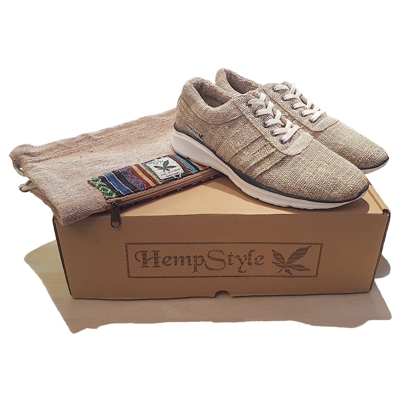 Hemp trainers Blue Stripe