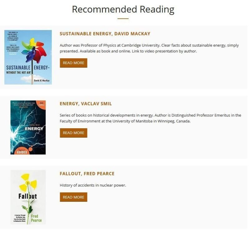 Recommended Reading Pages
