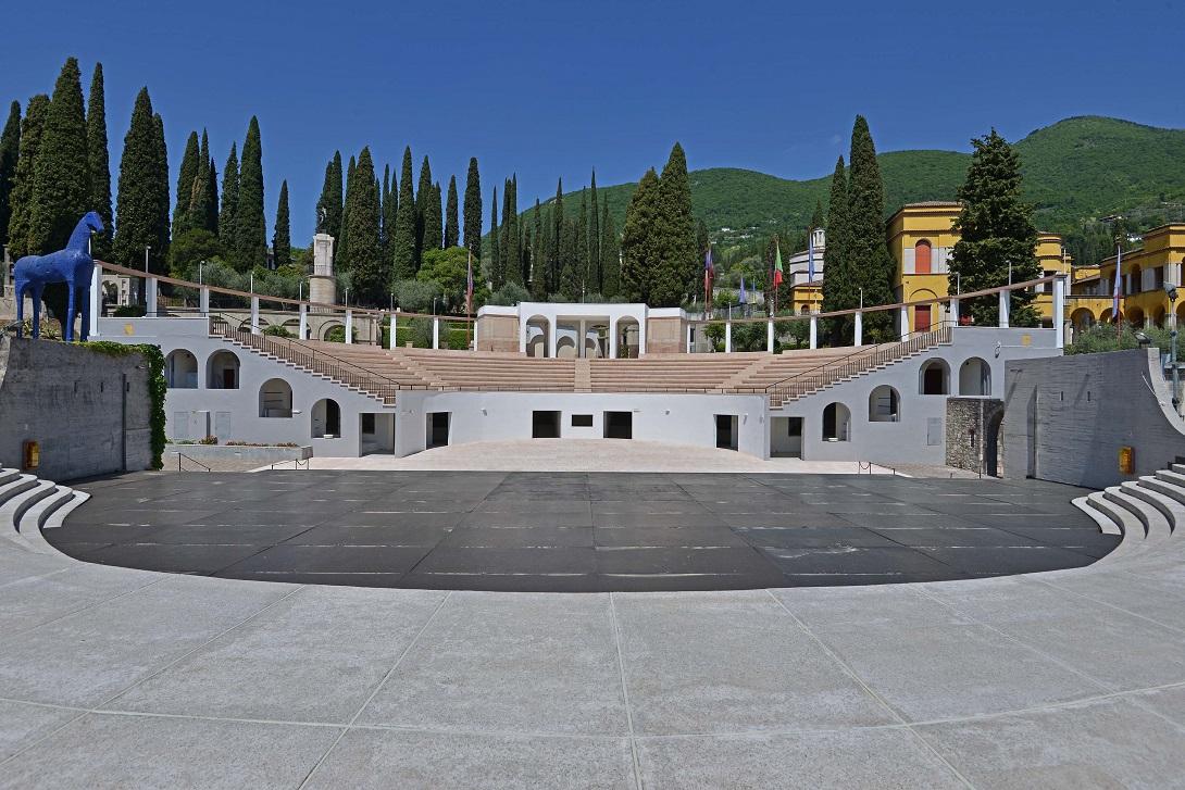 Il Parlaggio, l'anfiteatro del Vittoriale degli Italiani a Gardone Riviera