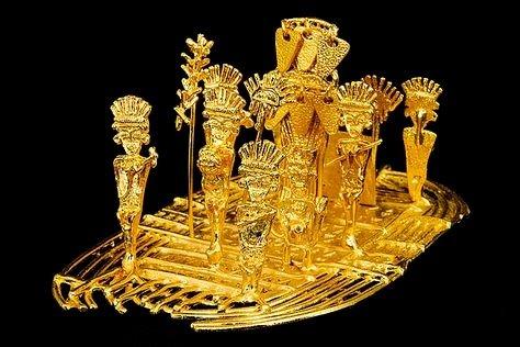 Représentation de la cérémonie d'El Dorado