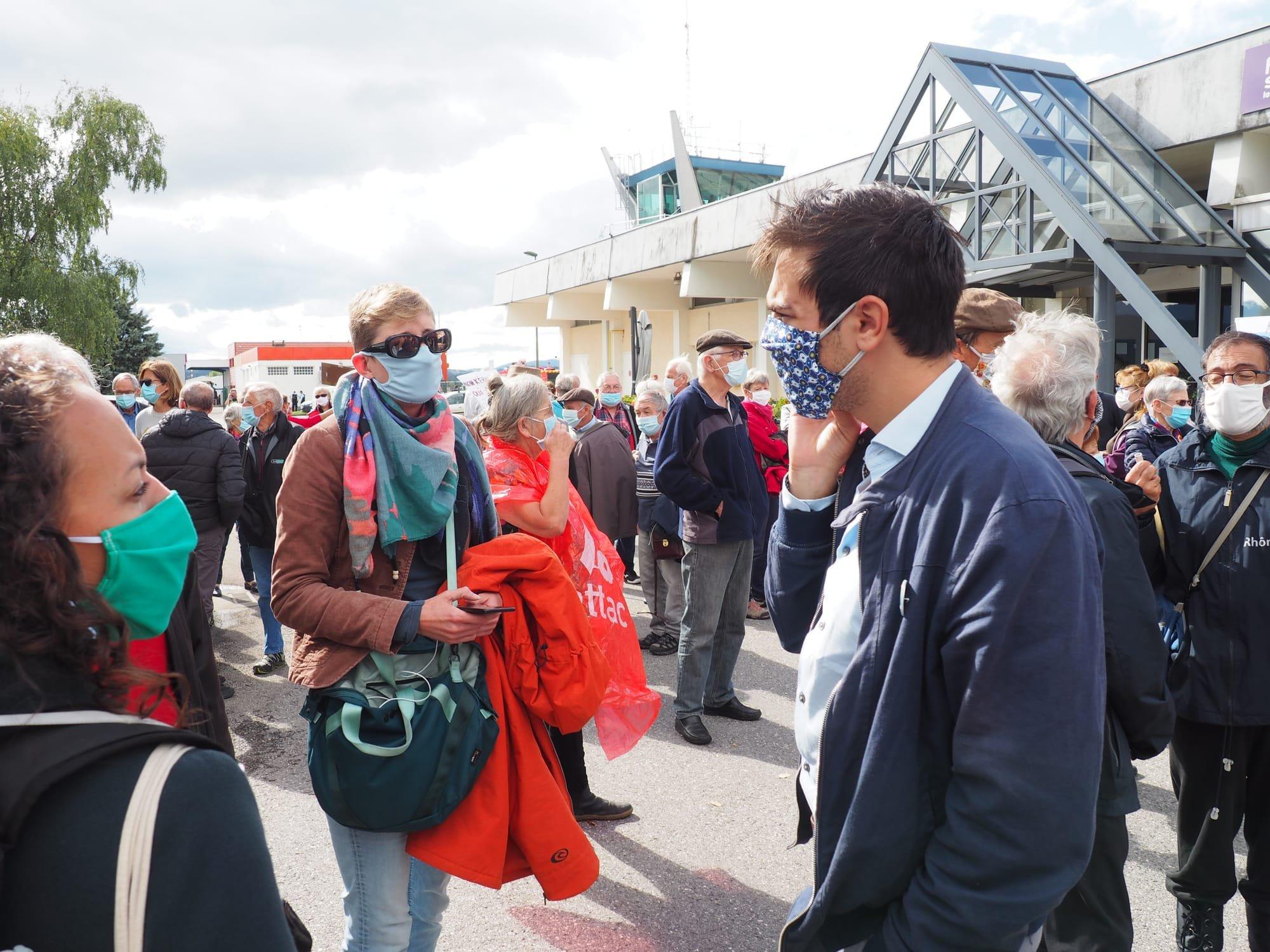 Claire Lepan et Antoine Grange, élus du collectif