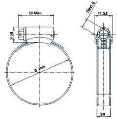 desenho da abraçadeira FLEXIL Suprens