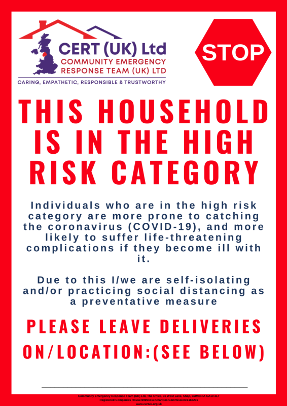 High Risk Category Poster