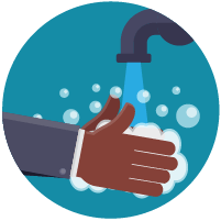 Clean your hands often with soap & water