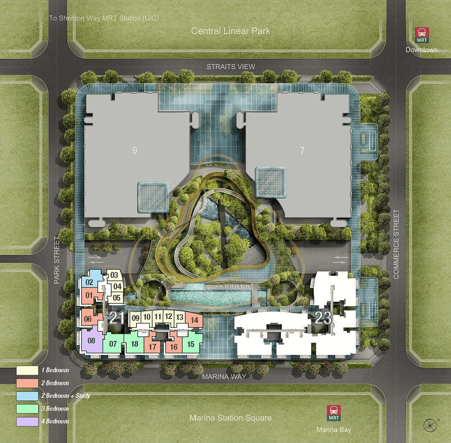 Marina One Site Plan 1