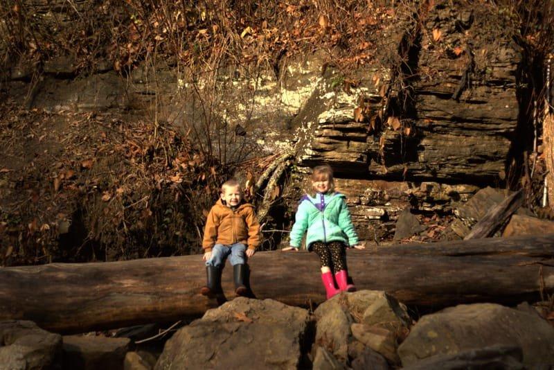 Kids at Cathedral Falls