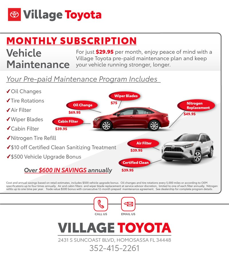 Prepaid Maintenance subscription