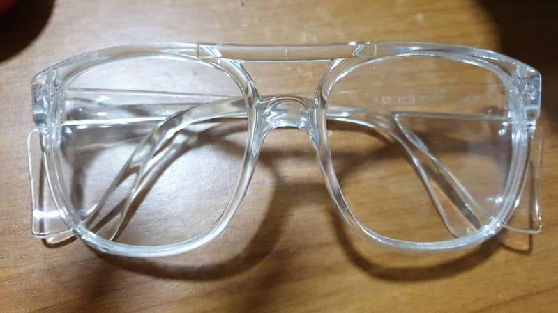 Safety White Eye Glasses Premium.