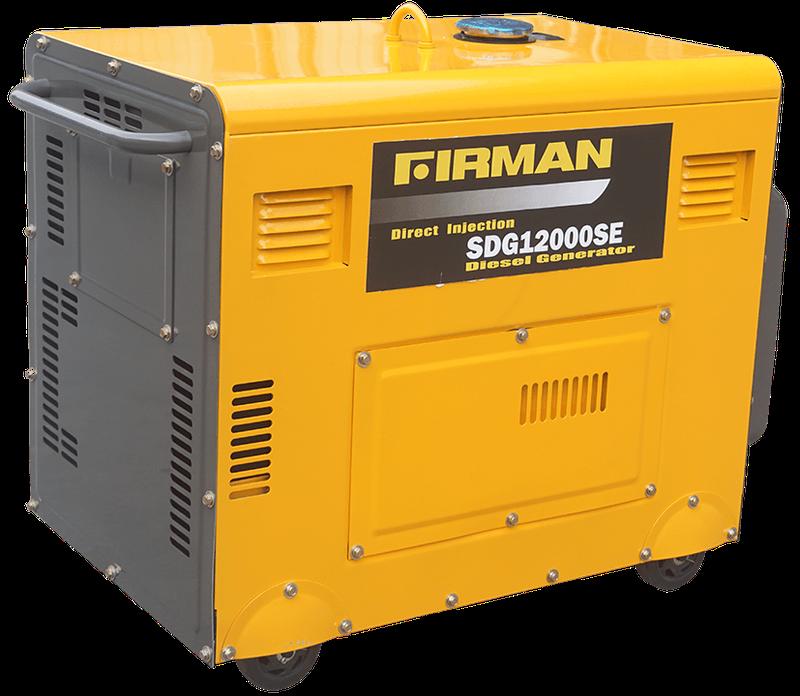 Original Firman 8.3 KVA Diesel Sound Proof Generator.