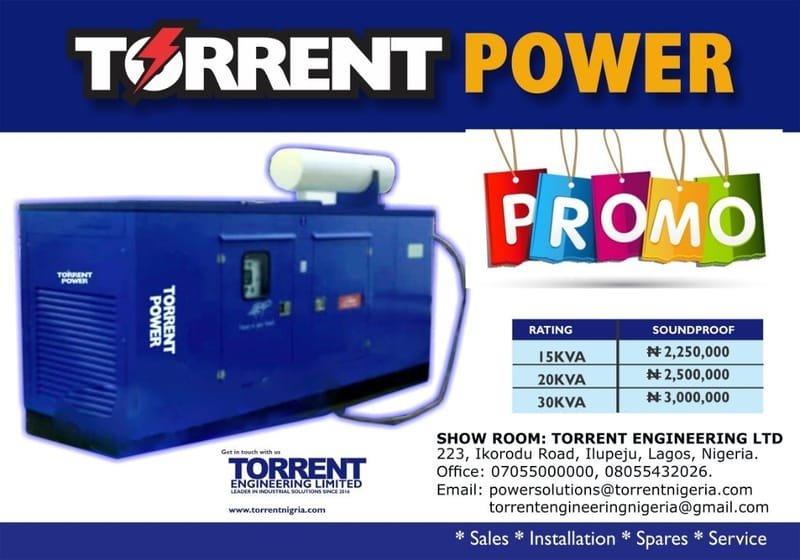 Torrent Power Diesel Generator (10 KVA - 1000 KVA)