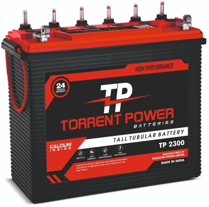 Torrent Power Tall Tubular Batteries 200 Ah (24 Months Warranty) Made in India.