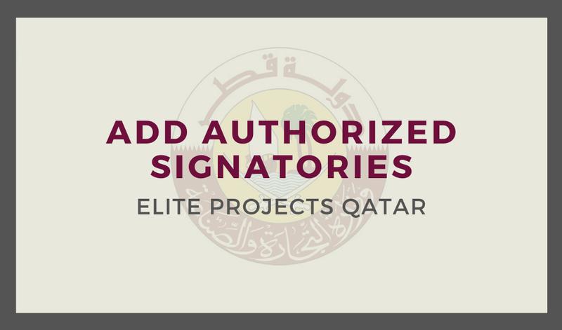 Add Authorized Signatories