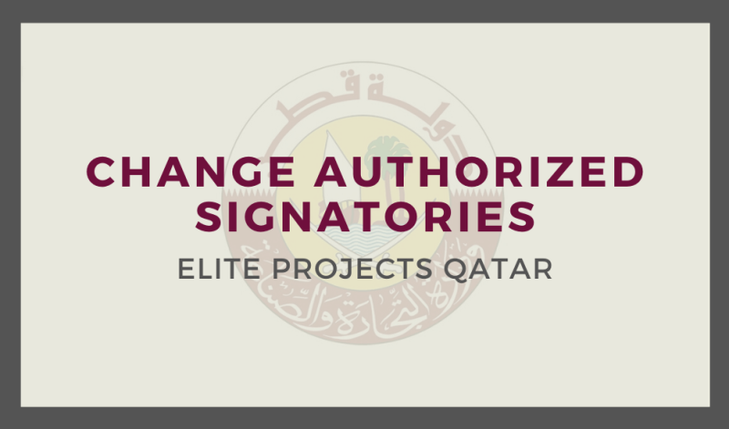 Change Authorized Signatories