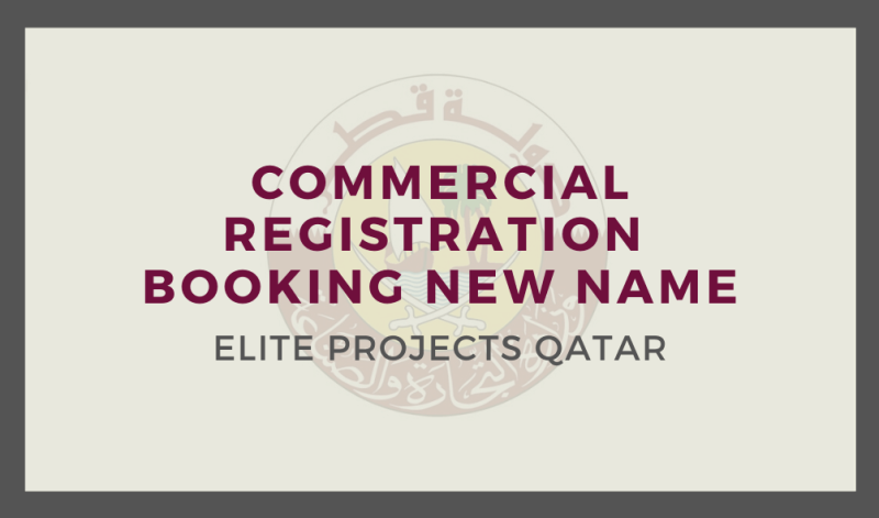 Commercial Registration Booking New Name