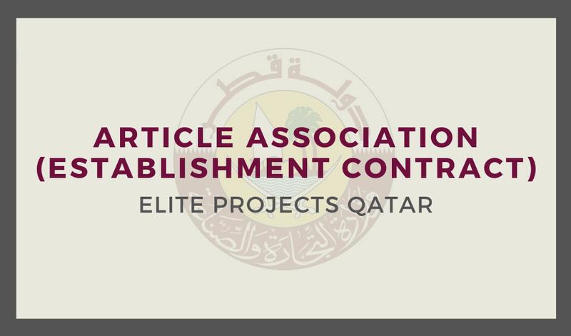 Article Association (Establishment Contract).
