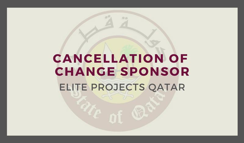 Cancellation of Change Sponsor