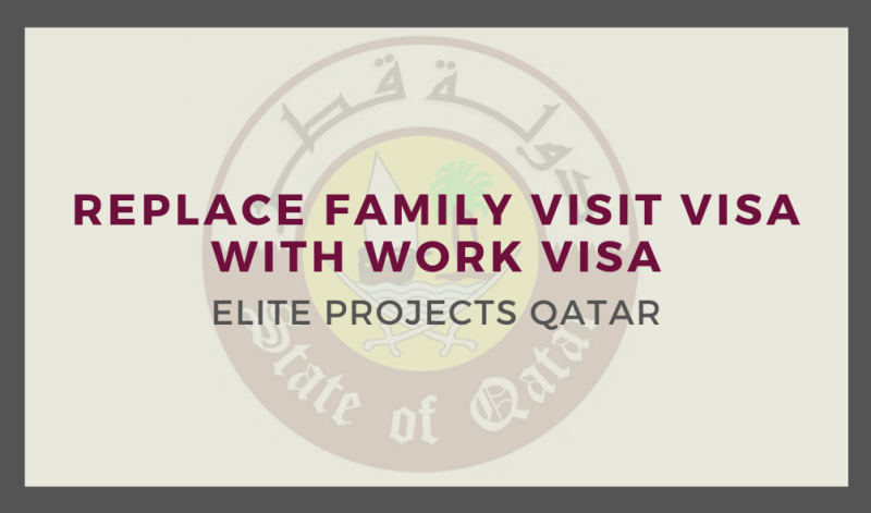 Replace Family Visit Visa with Work Visa - Non QVC Countries