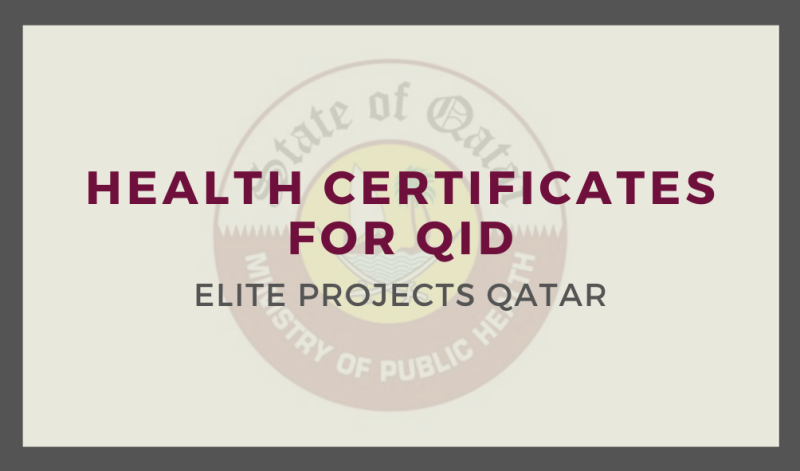 Health Certificates for QID