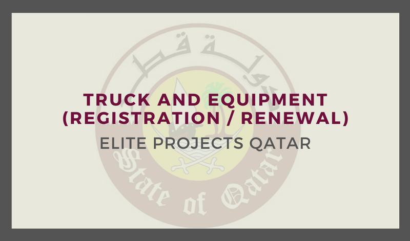 Truck and Equipment (Registration / Renewal )