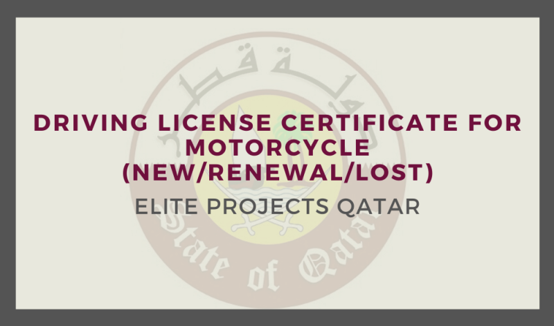 Driving License Certificate for Motorcycle (New/Renewal/Lost)