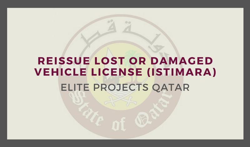 Reissue Lost or Damaged Vehicle License (Istimara)