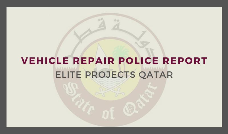 Vehicle Repair police Report