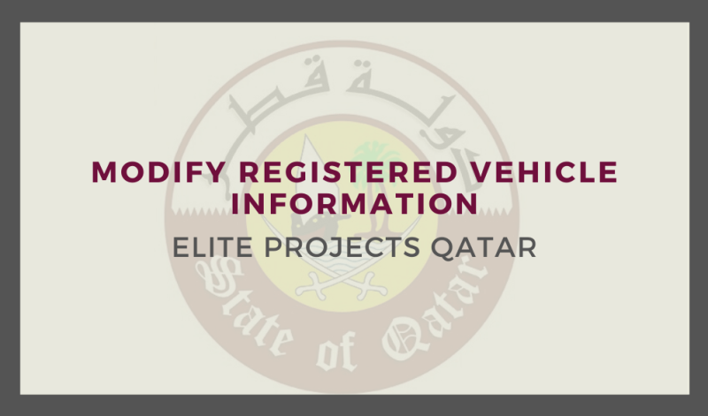 Modify Registered Vehicle Information