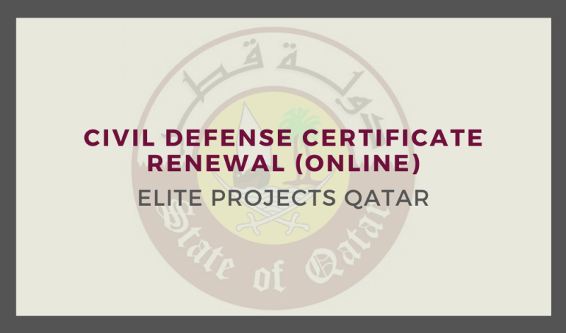 Civil Defense Certificate Renewal (Online)