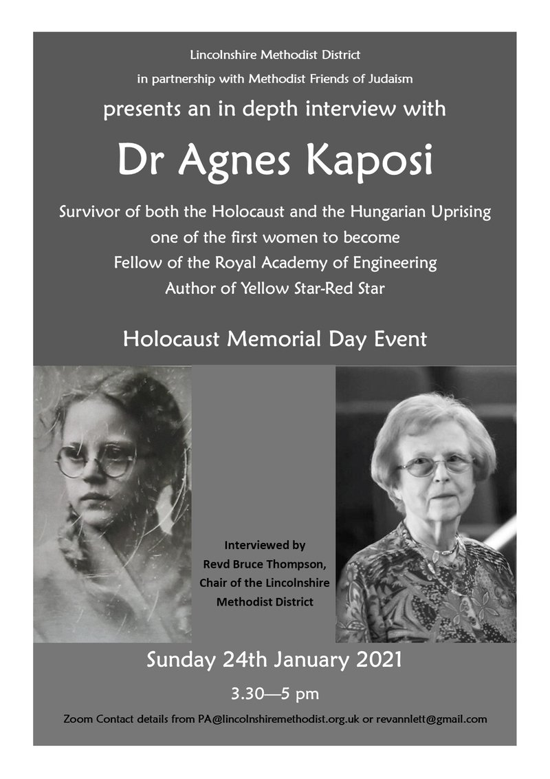 Holocaust Memorial Day Event - Interview with Dr Agnes Kaposi