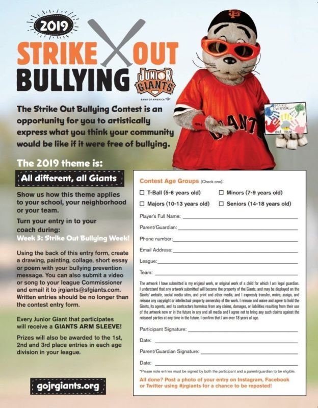 Strike Out Bullying Pledge & Contest Entry