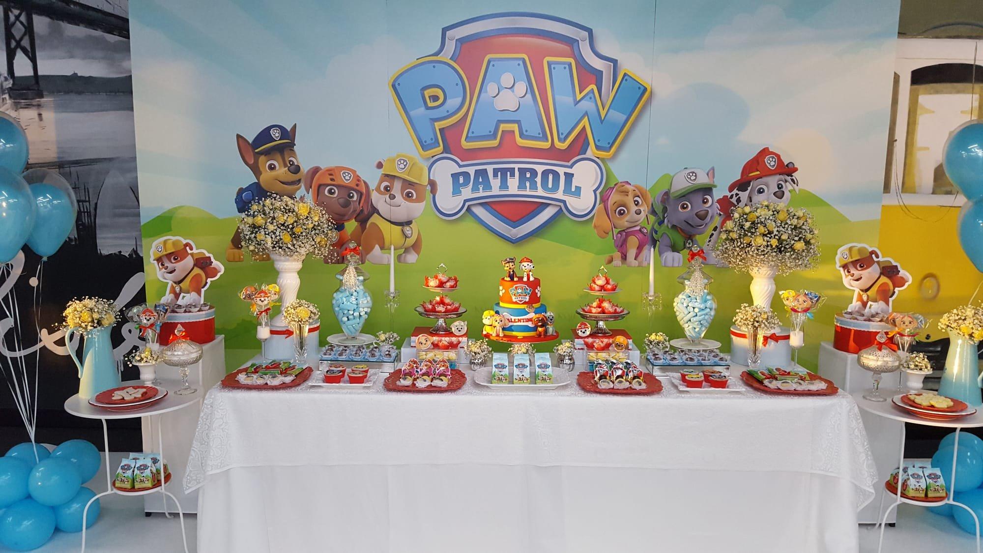 Decoração de festa infantil tema Paw Patrol - Patrulha Pata